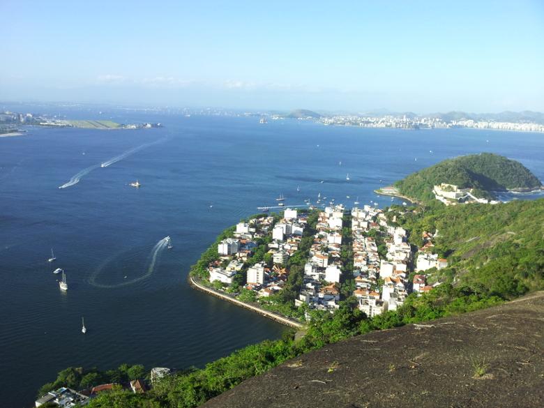 Vista aérea do bairro Urca