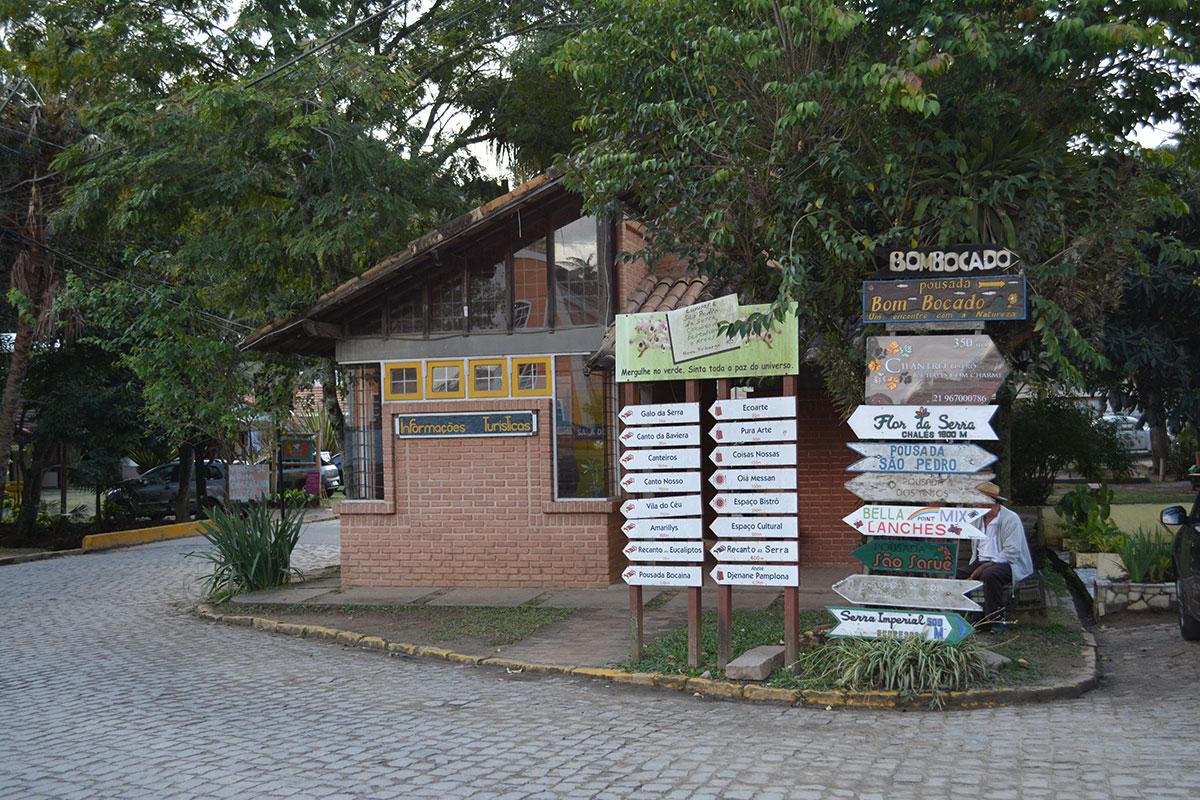 Centro de informações turísticas em São Pedro da Serra