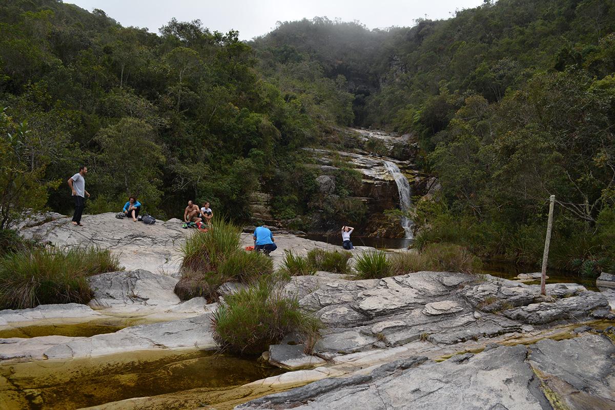 Chegando na Cachoeira dos Macacos