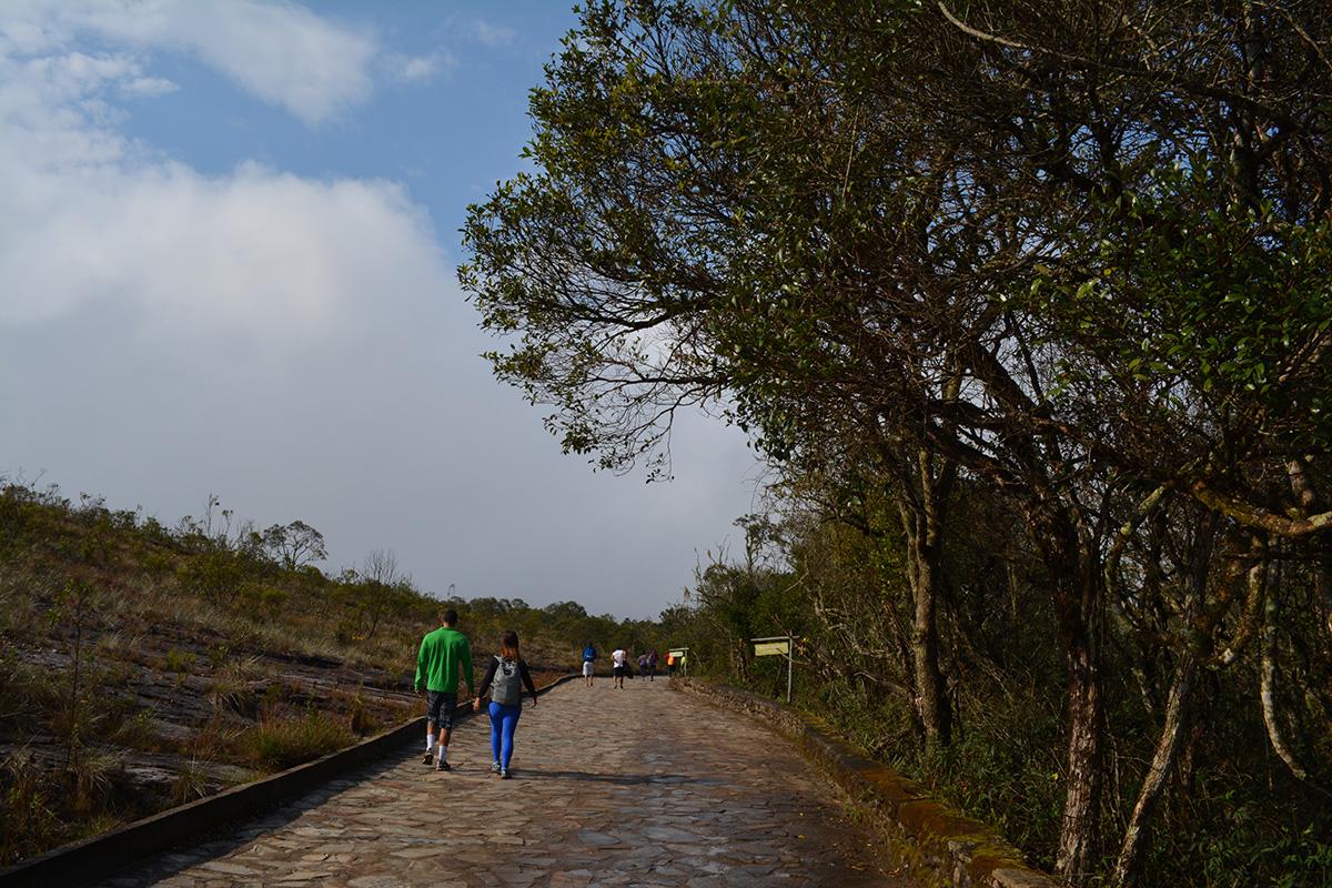 Início da caminhada pelo Parque Estadual de Ibitipoca